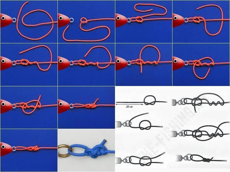 Рыболовные узлы для крючков и поводков: как вязать правильно + видео