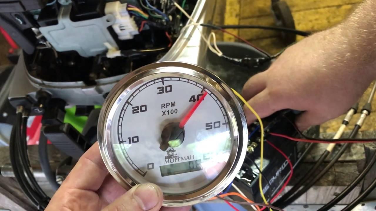 Подключение тахометра tx-193 к лодочным моторам