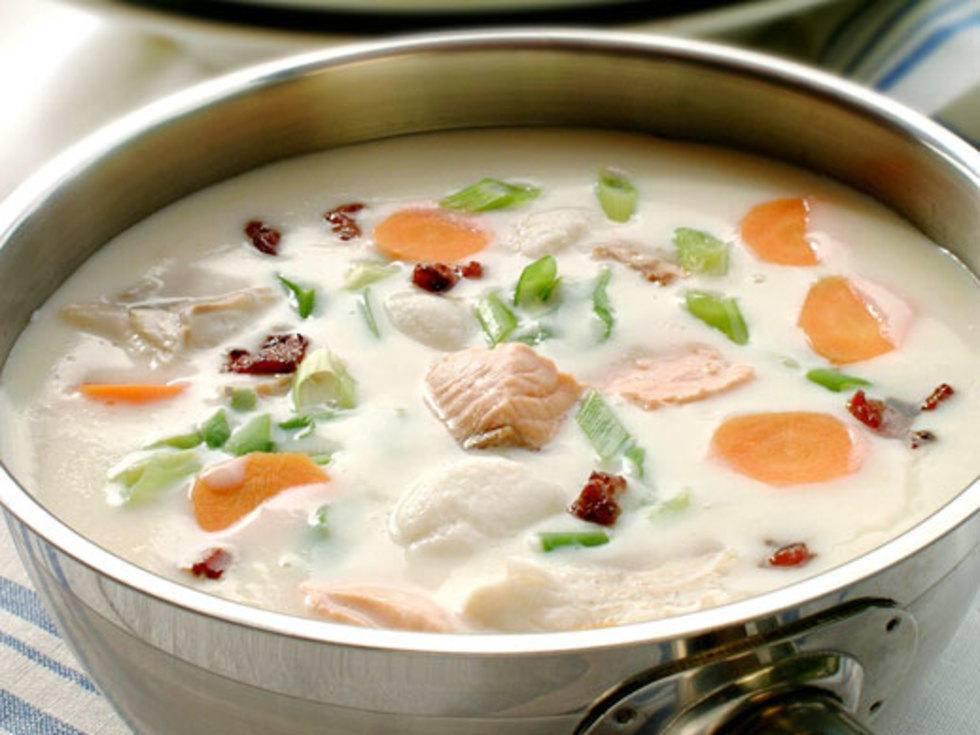 Сливочный суп с лососем – кулинарный рецепт