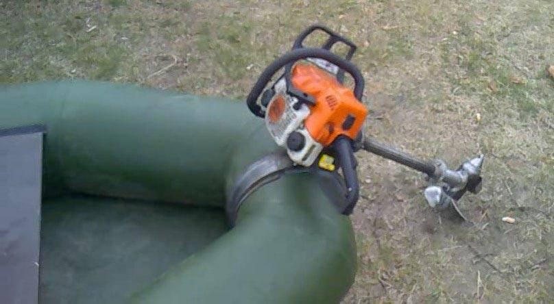 Изготовление самодельного лодочного мотора из бензопилы