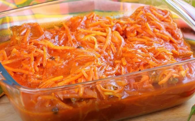 Минтай под маринадом из моркови и лука: рецепты