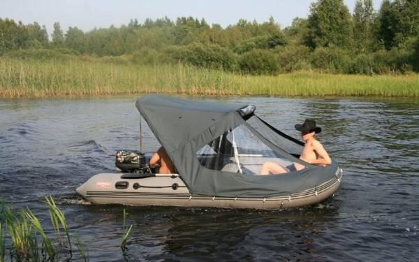 Как выбрать и установить носовой тент на лодку