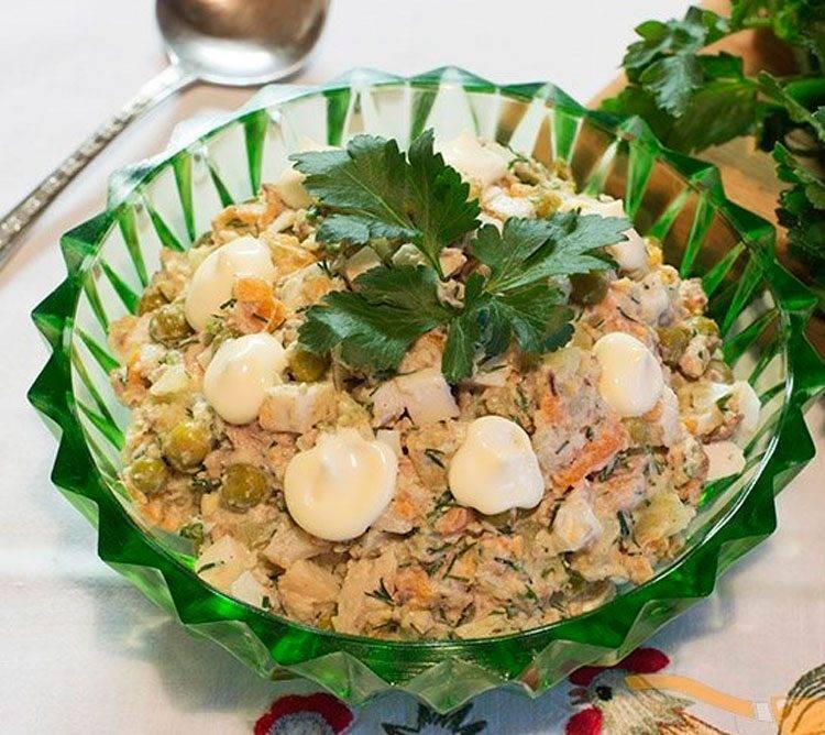 Салат из рыбных консервов: готовим рыбный салат быстро и вкусно