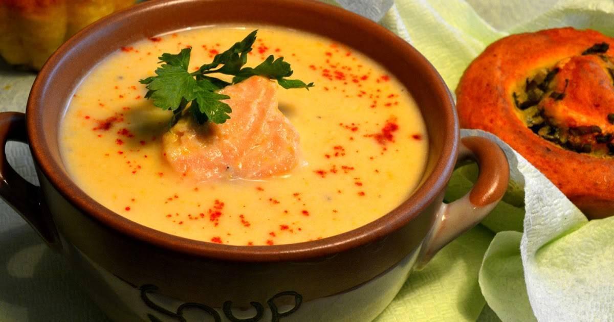 Сливочный суп с семгой — национальное блюдо: рецепт с фото и видео