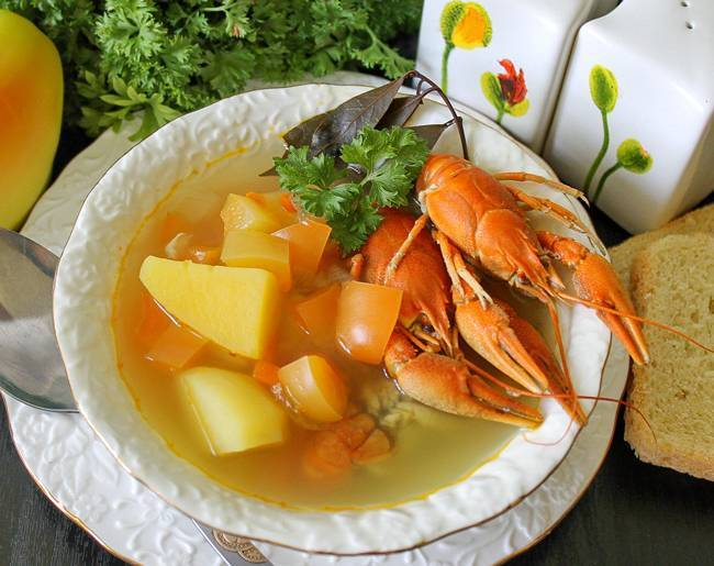 Раковый суп (Суп одного дня)