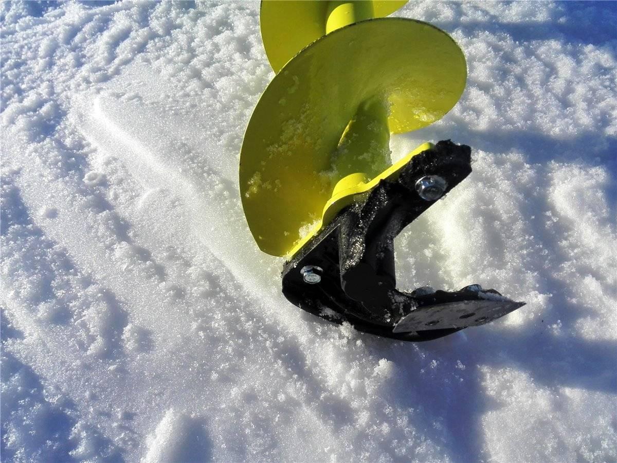 Ручной и электрический бур для зимней рыбалки