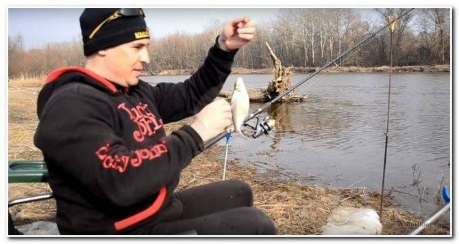 Ловля на фидер весной на реке. видео о рыбалке фидером ранней весной