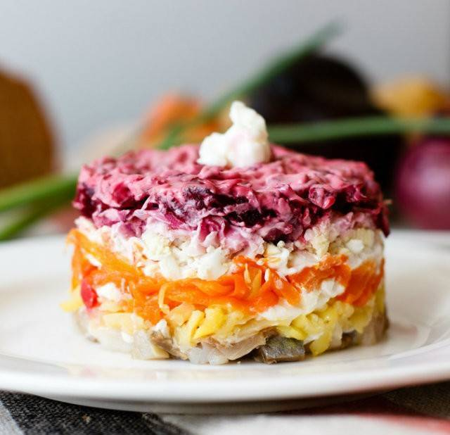 Салат сёмга под шубой - рецепт с фотографиями - patee. рецепты