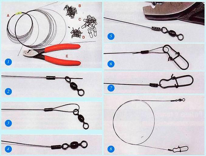 Как сделать поводок для рыбалки своими руками