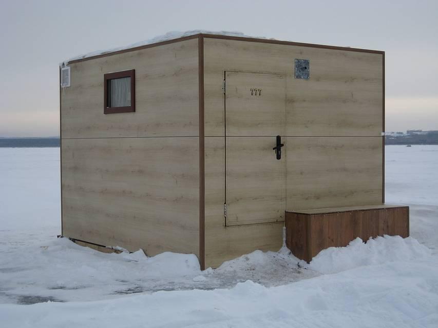 Секреты зимней рыбалки, изготовление домика