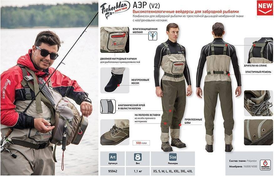 Выбираем удобные вейдерсы для рыбалки