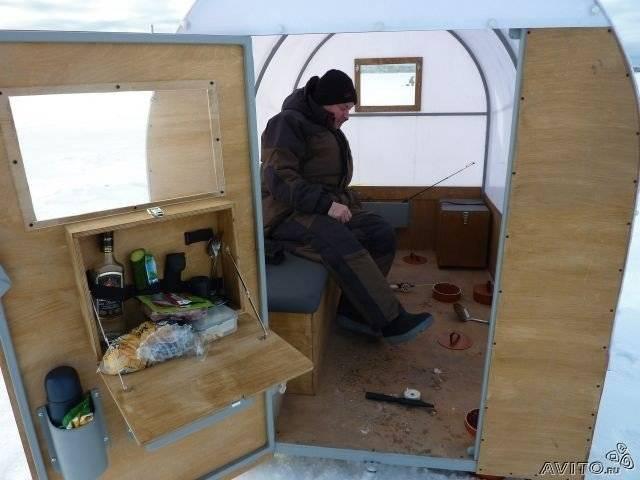Передвижной домик рыбака для зимнего подледного лова
