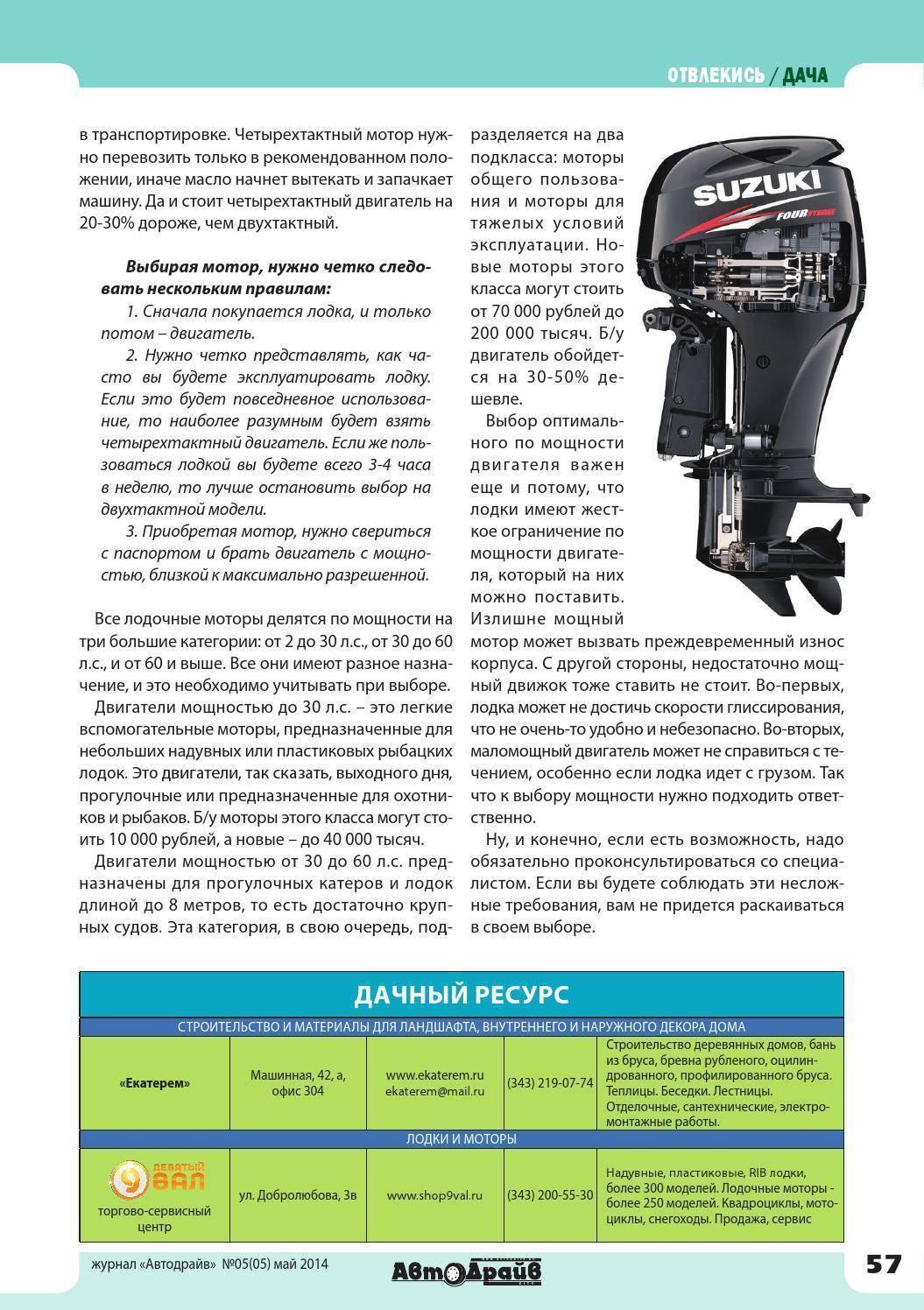 Рейтинг лодочных моторов - как выбрать лучший мотор