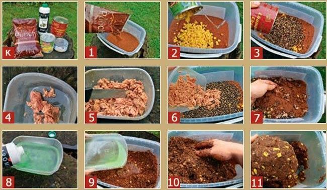 Прикормка для сома своими руками: рецепты, как приготовить