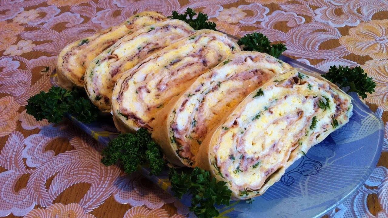 Рулет из лаваша рыбный – кулинарный рецепт