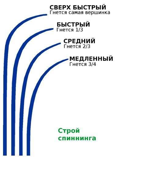Строй спиннинга: что это такое, какой выбрать, отзывы, как определить тип