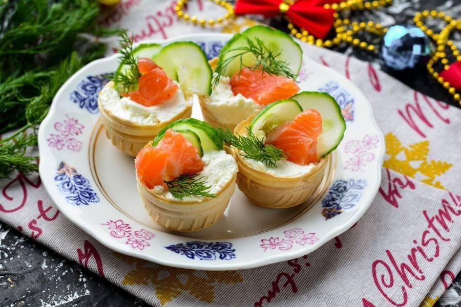 10 вкуснейших рецептов тарталеток с красной рыбой