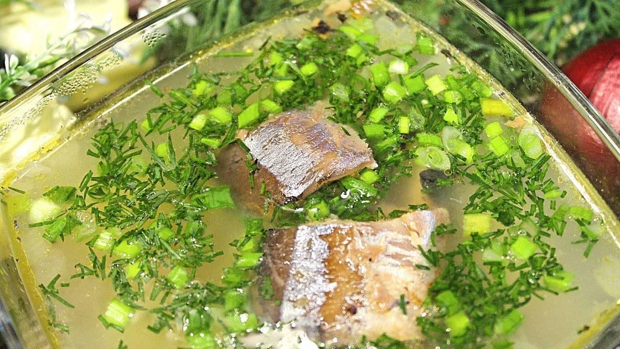 Рыбный суп с пшеном