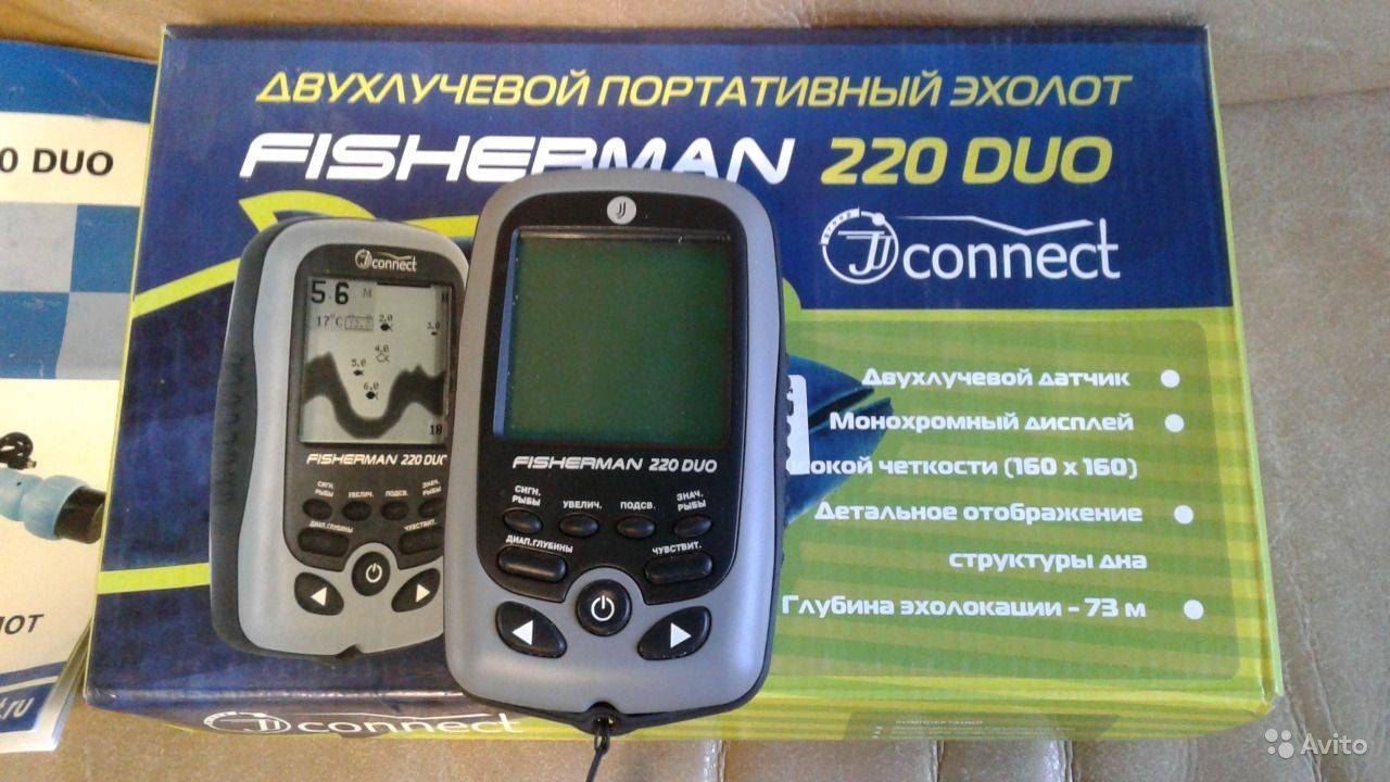 Jj-connect fisherman 220 duo - купить в самара, скидки, цена, отзывы, обзор, характеристики - эхолоты