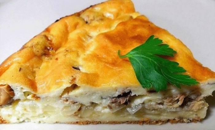 Заливной рыбный пирог – кулинарный рецепт