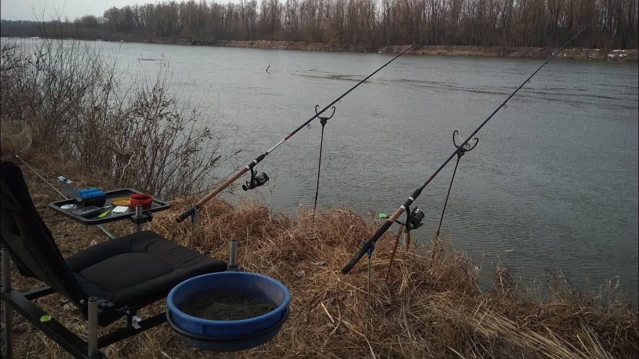 Ловля леща ранней весной на фидер на реке видео