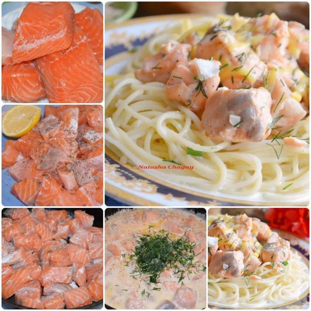 Паста с красной рыбой в сливочном соусе, как приготовить с консервированной рыбой: рассматриваем по пунктам