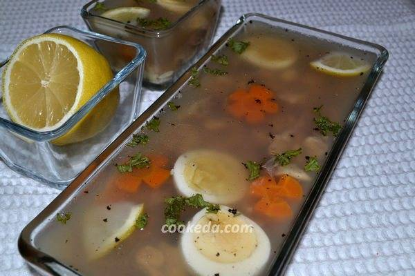 Заливное из фаршированной щуки и судака – кулинарный рецепт
