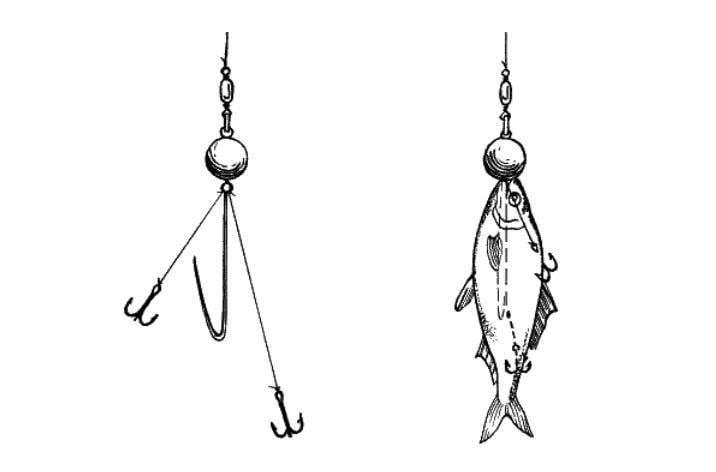 Простейшая снасточка для ловли на мертвую рыбку своими руками