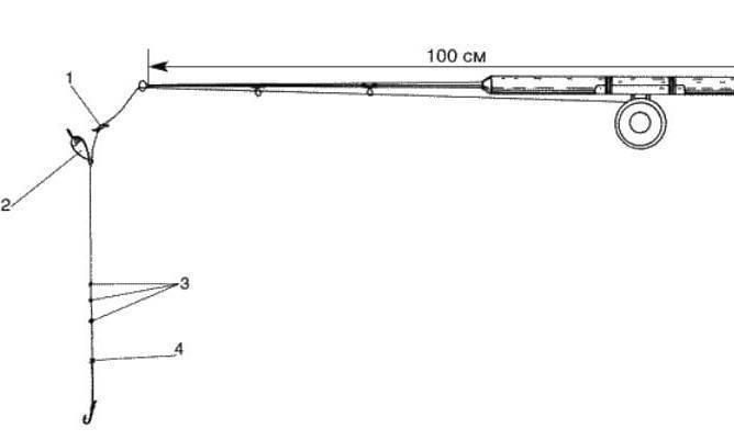 Бортовые удочки на леща: оснастка, схема, конструкция для ловли с лодки