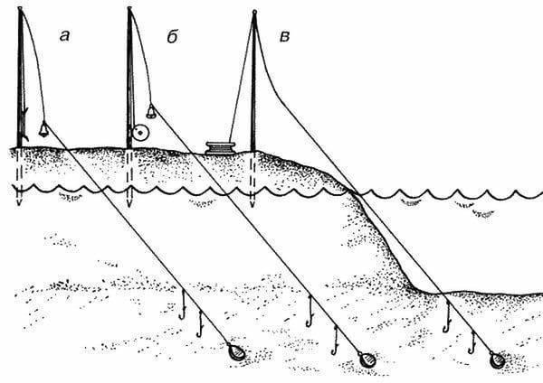 Снасть на сома для ловли с берега, выбор удилища для рыбалки на течении