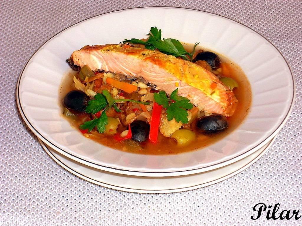 Солянка рыбная по-домашнему из пеламиды