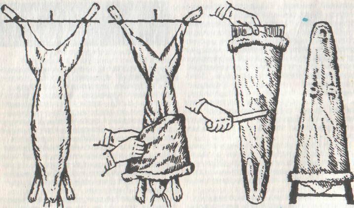 Как снять чулок с щуки