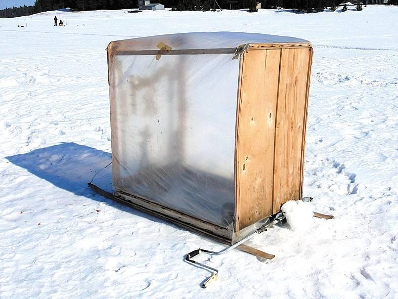Самодельная зимняя палатка