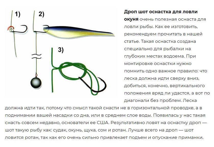 Оснастка дроп-шот - тонкости ловли и монтаж