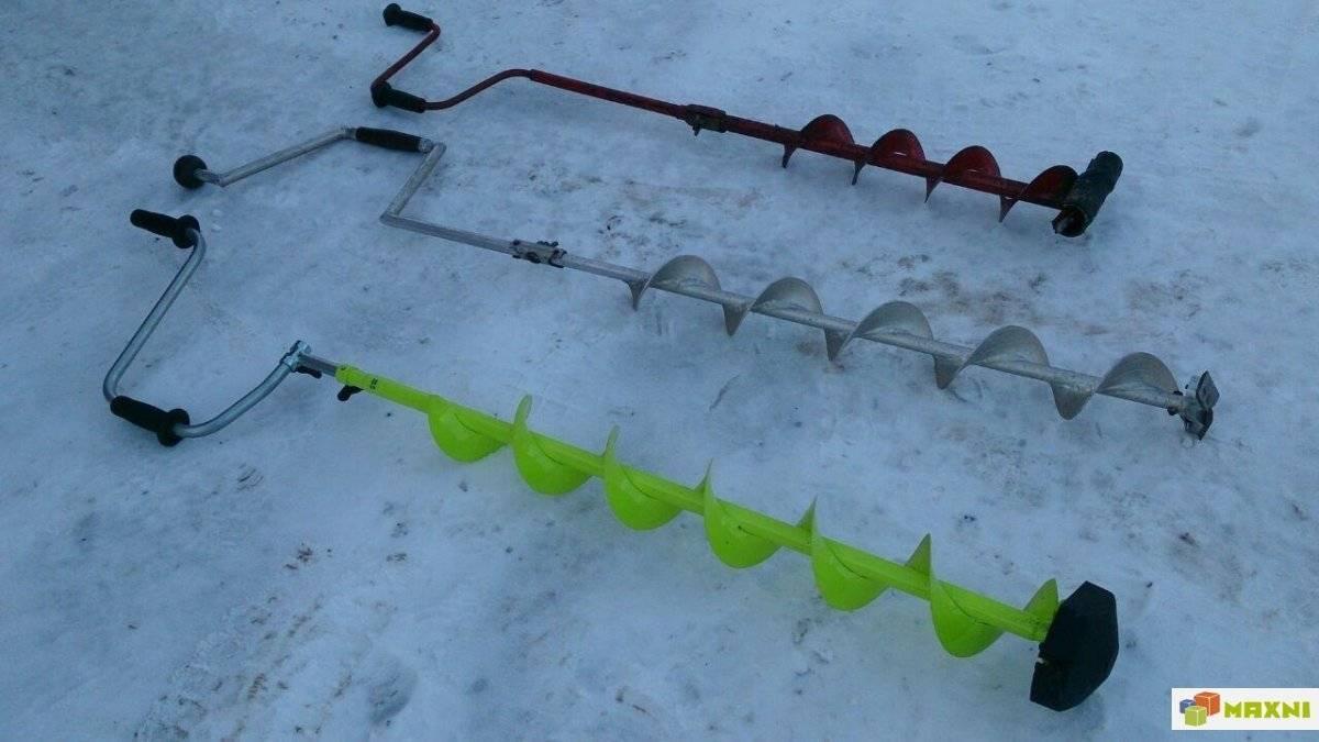 Рыболовный бур для зимней рыбалки: виды и устройства ручного и электрического ледобура