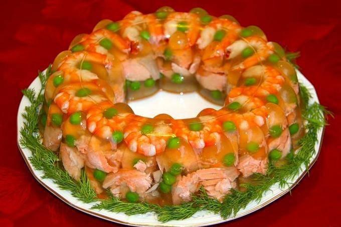 Заливное из рыбы – рецепты из окуня, судака, горбуши, с креветками и желатином