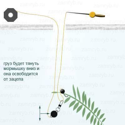 Самодельный рыболовный отцеп из трубки