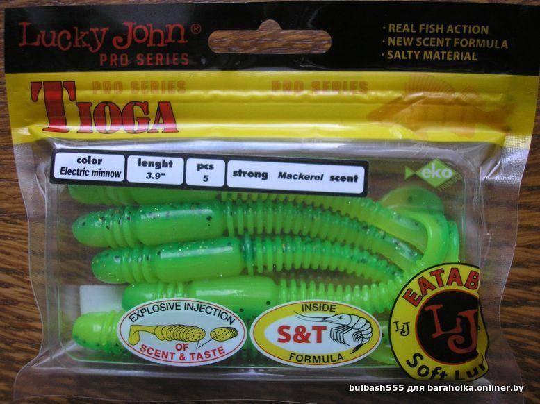 Лаки джон тиога — отзывы, цвета силиконовых приманок lucky john tioga, размеры