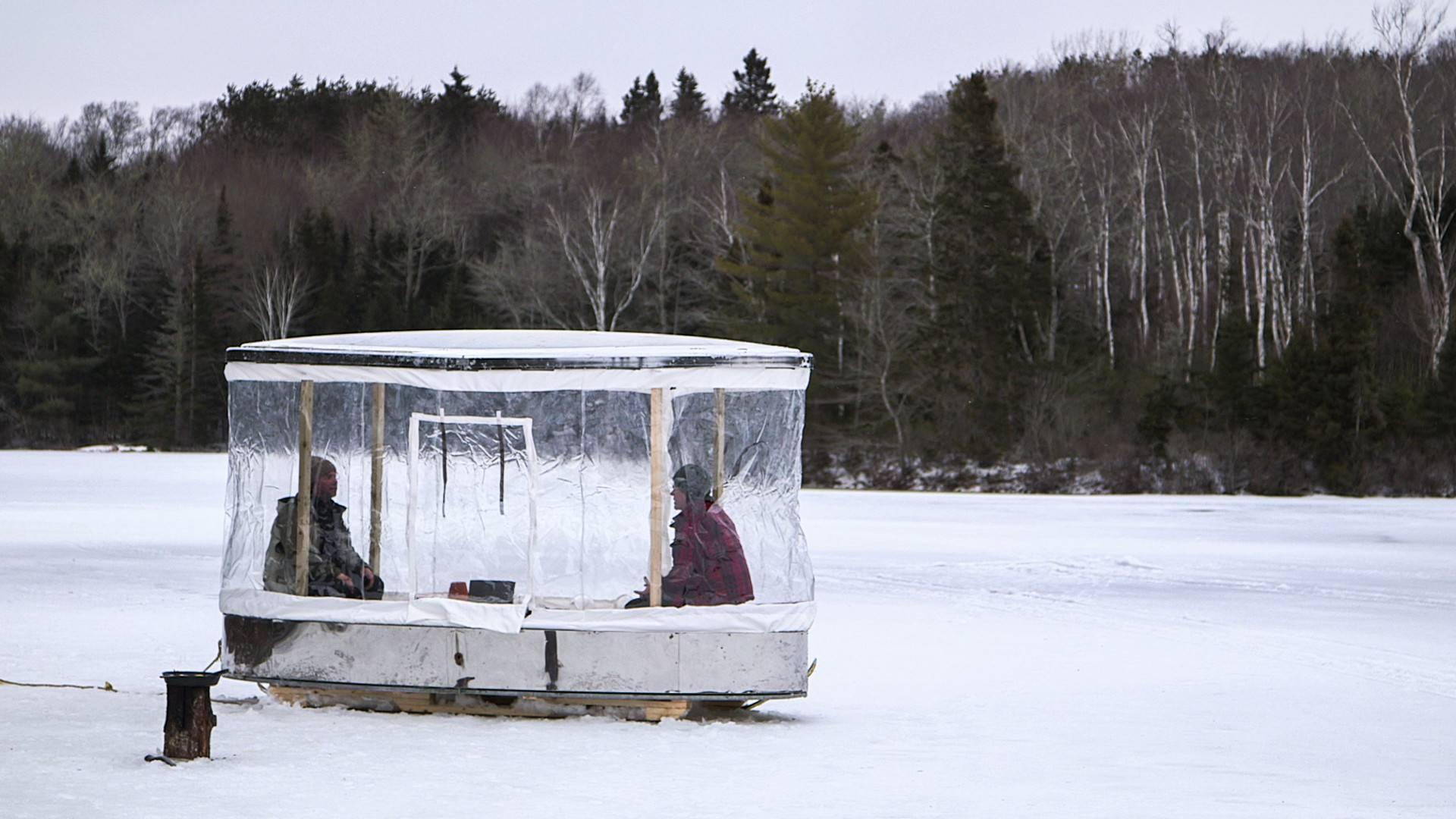 Домик рыбака для зимней рыбалки своими руками