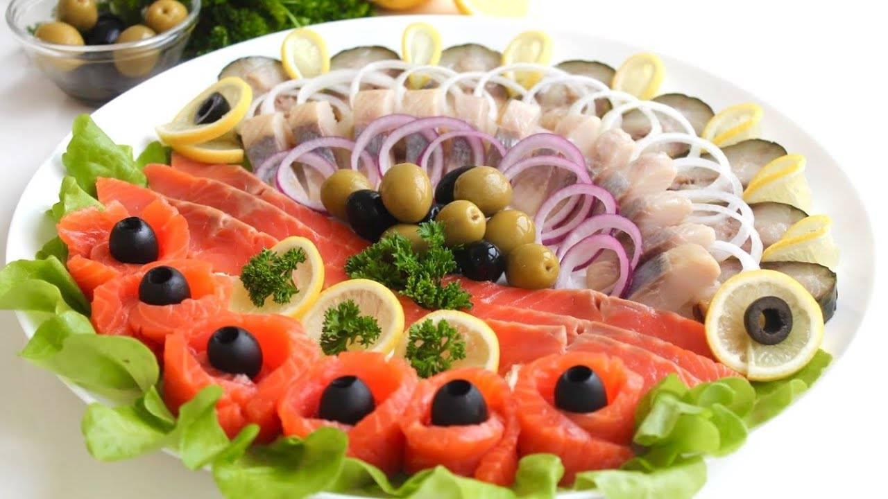 Рыбная нарезка на праздничный стол, фото-инструкция