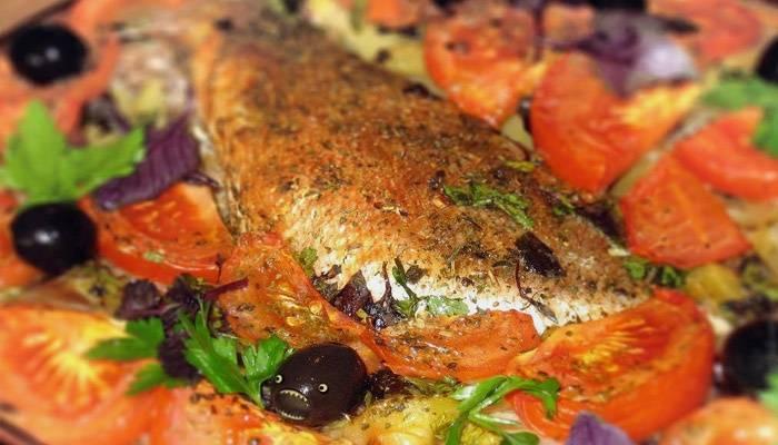 Окунь морской в духовке - рецепты