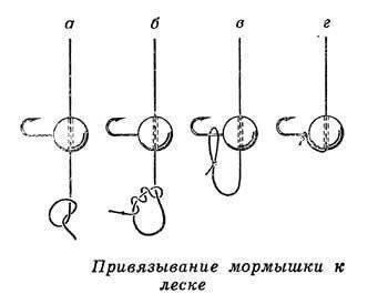 Как привязать мормышку на зимнюю удочку