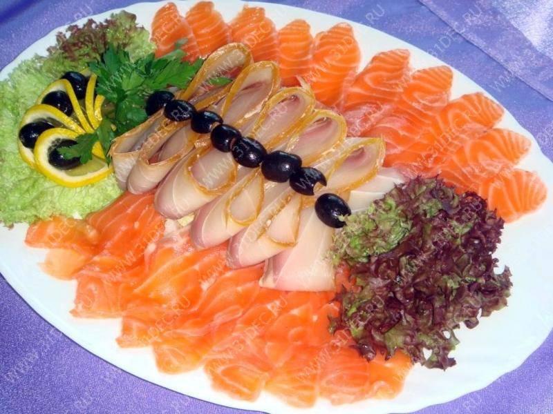 Красивые нарезки из колбасы рыбы овощей и фруктов, идеи подачи закусок и оформление продуктов на тарелке фото