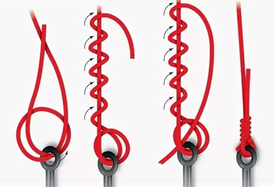 Как привязать леску к вертлюжку - простые и надёжные узлы