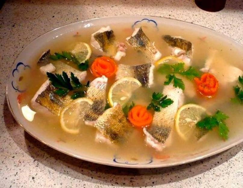 Заливное из рыбьих голов быстро и просто- рецепт пошаговый с фото