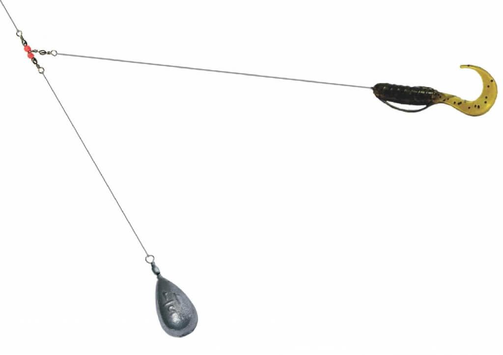 Ловля окуня на отводной поводок. устройство отводного поводка.