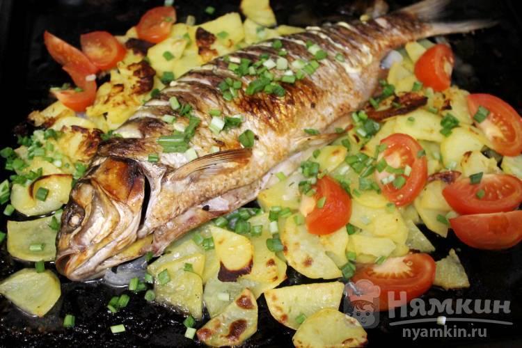 Рыба в фольге с картофелем