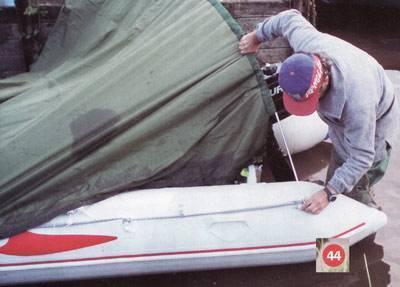 Как сделать тент на лодку пвх своими руками