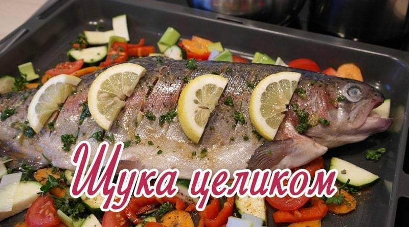 Щука в духовке в фольге — 8 рецептов приготовления