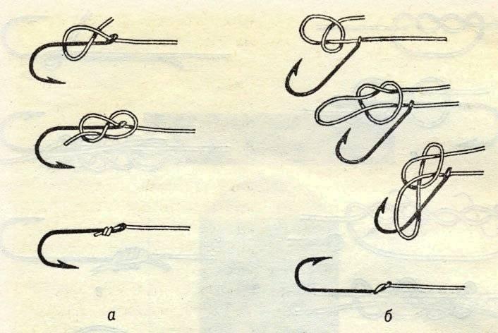 Как привязать крючок к леске - узлы для колечка и лопатки